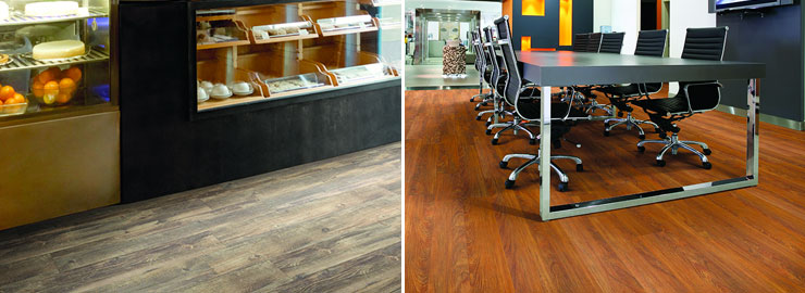 Vinyl Core Elements commercial space flooring office retail